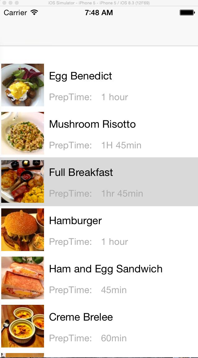 The recipe app