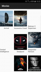 The images were still loading when i took this screenshot. The movie posters where you can click on them and they will expand, i was not able to show you guys the expanded image because i have gone over the file size