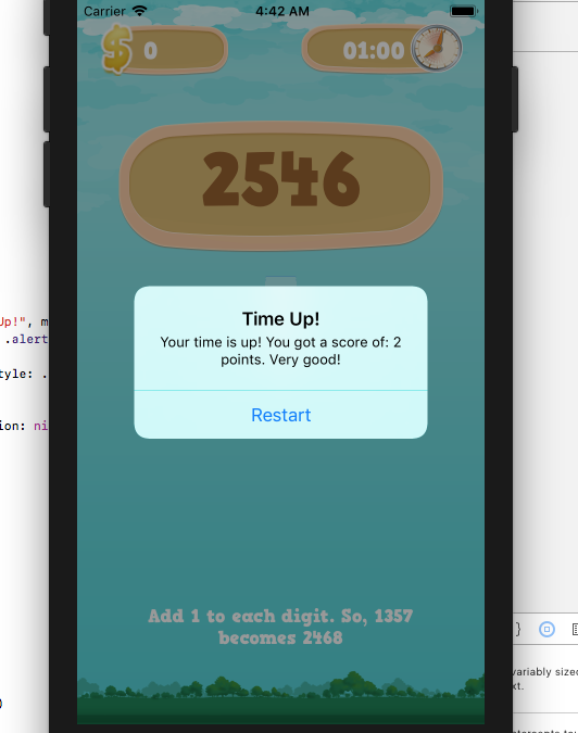 IOS number gaming application